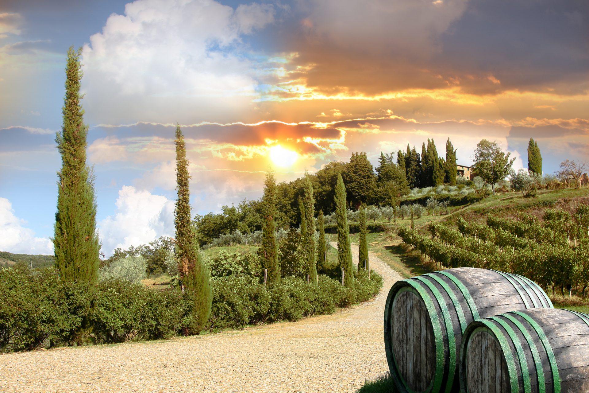 Foto van Chianti, een streek in Toscane
