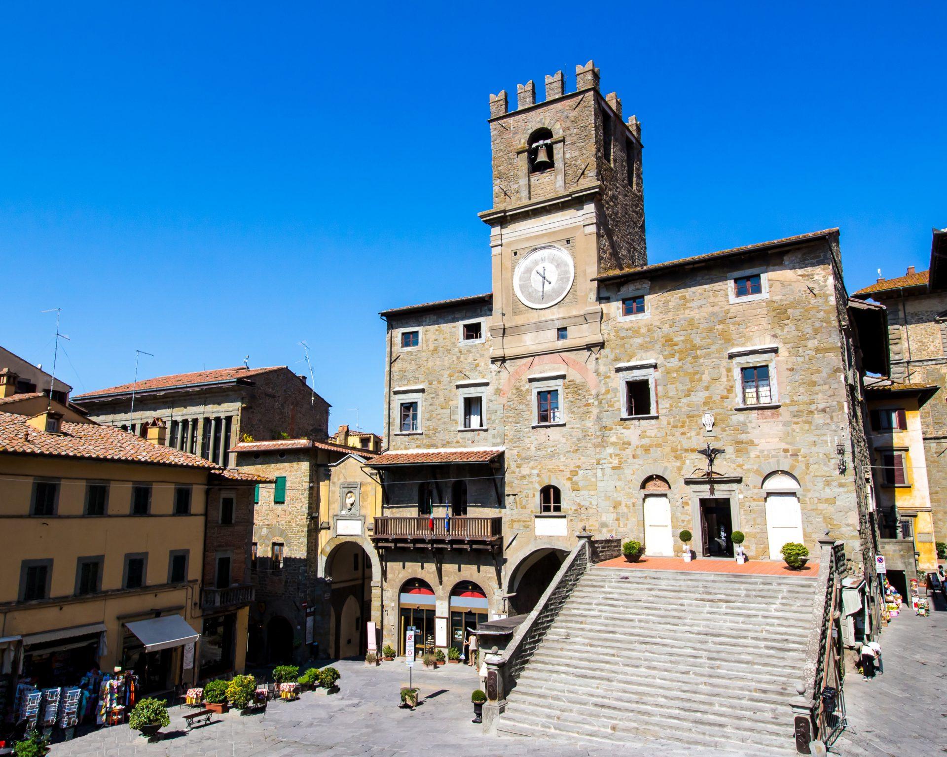 Het plein van Cortona