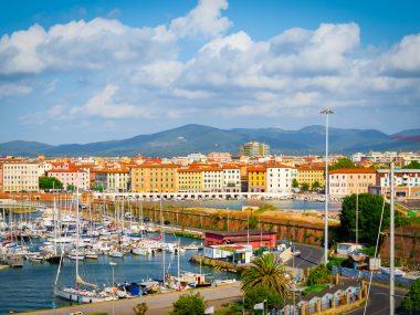 De haven van Livorno