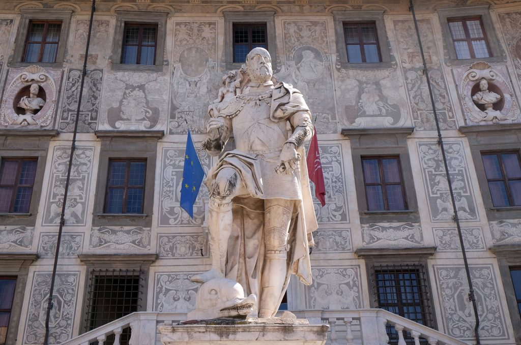 Standbeeld in Pisa