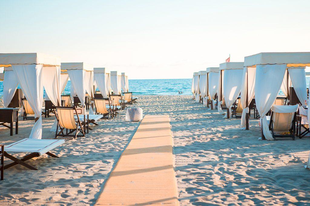 Het strand bij Forte dei Marmi
