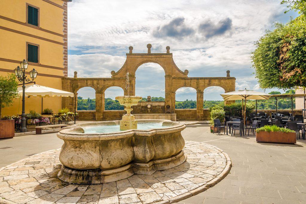 Fontein in Pitigliano