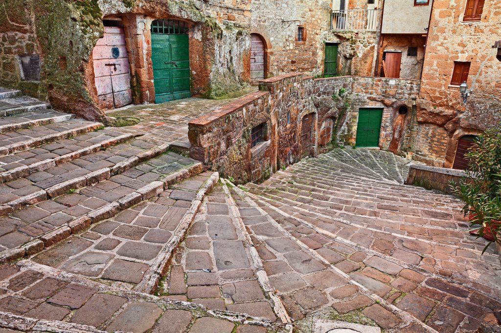 Het historische centrum van Pitigliano
